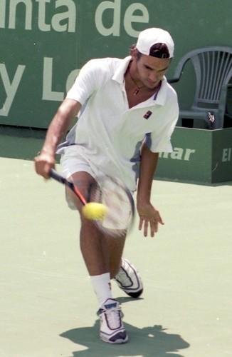 Roger Federer en El Espinar. Foto Pedro Merino