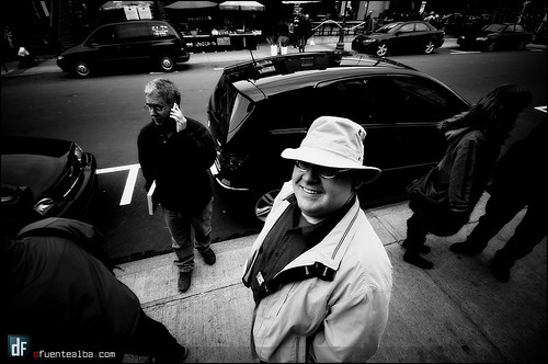 Michel sur la rue Cartier