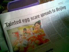 BP headline - China's eggs