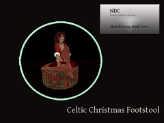 celtic christmas footstool