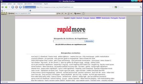 búscador generalista para rapidshare
