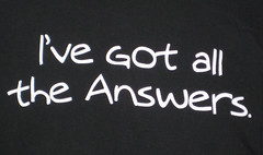 Answers.com t-shirt back