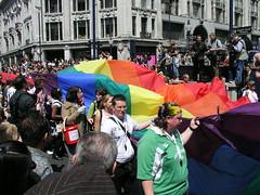 Rainbow flag, London Pride 2008.