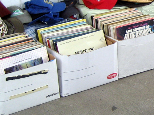 Boxes of wacky records