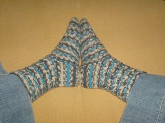 Woven Cable Eyelet Socks - Complete