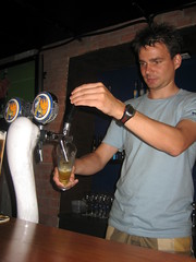 Me Pouring a Tiger Pint