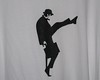 Ministry of Silly Walks stenciled tee #2