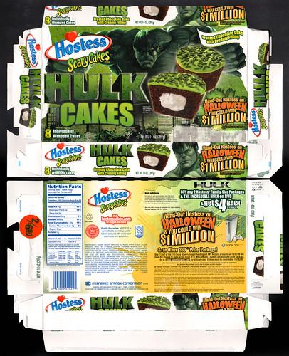 Hostess Hulk Cakes