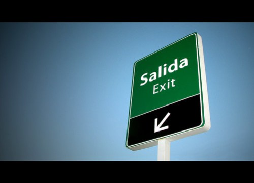 Salida/Exit by psycho röy.