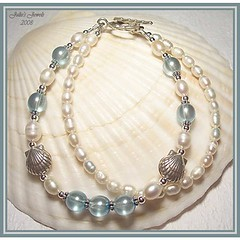 JJs - Zodiac Series - CANCER - Fresh Water Pearls Bracelet with Sterling Silver