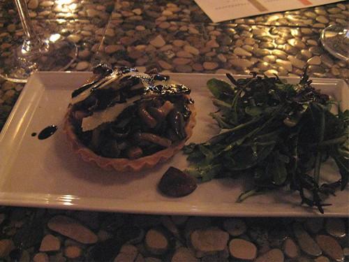 mushroom tart at cru