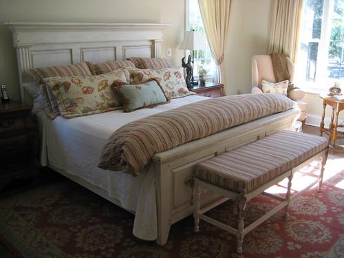 Linen Bedding with seashells