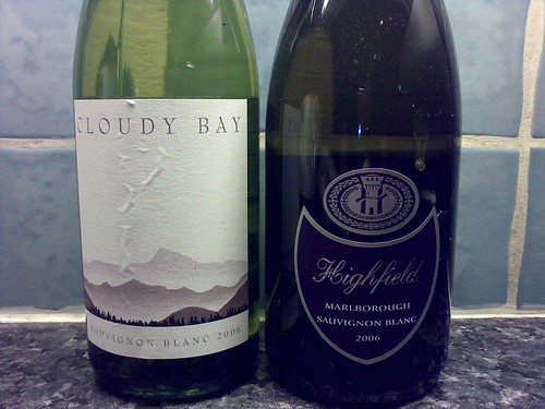 Cloudy Bay & Highfield 2006 Taste Test