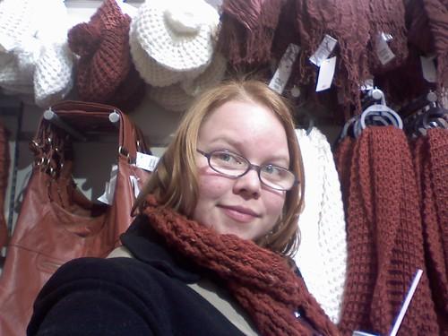 Lindsey in camaflogue at H+M