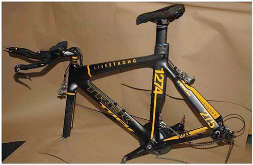 Lance Armstrong's TT bike recovered / Sacramento Police photo