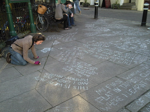 Adding to the chalk messages