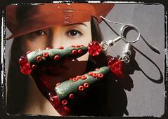 Orecchini rosso verde albero di Natale - Green red earrings Christmas Tree MEHNALP