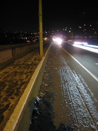 Glare Ice on the Bike Path
