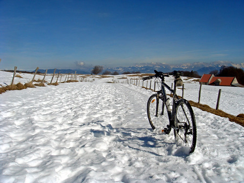 Saleve -snow on my route