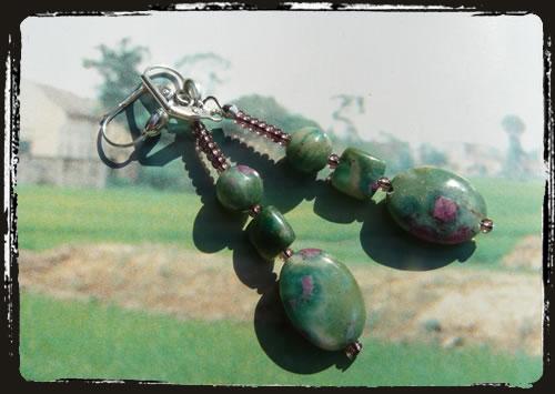 Orecchini verdi - Green earrings MEHCPVV