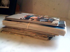 Stack of photos to be scanned