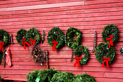 Wreaths On The Barn Wall