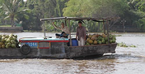 Fruit boat on the Saigon River
