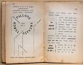Filippo Marinetti. Páginas 120 y 121 de Zang Tumb Tuuum. 1914.