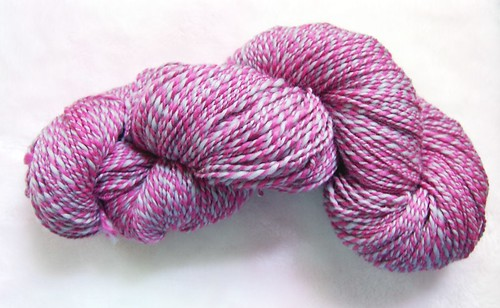Handspun two-ply yarn