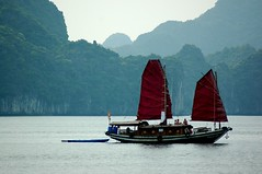 Setting sails, Halong Bay, Viet Nam