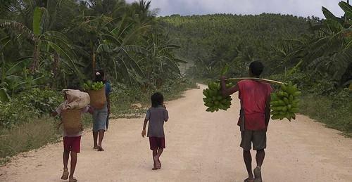 Keluarga di Kepulauan Tanimbar ini kehidupannya sangat dipengaruhi alam. Saat angin barat tiba yang membuat ombak di laut tinggi, mereka tidak dapat mencari nafkah di laut. Dengan belajar berkebun, mereka dapat hidup sepanjang tahun dengan mengikuti siklus musim.
