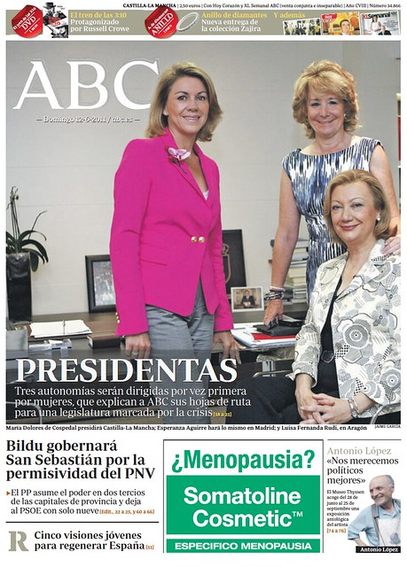 Portada ABC, domingo 12 de junio de 2011