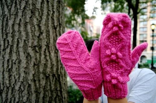 Hot Pink Mittens