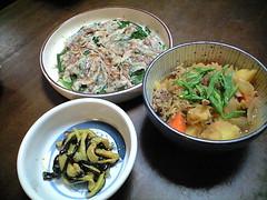 2008年10月19日の夕食