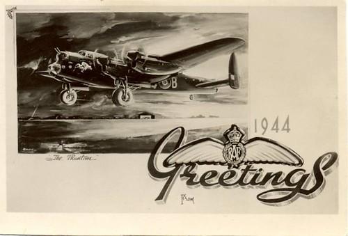 550 Squadron Christmas card