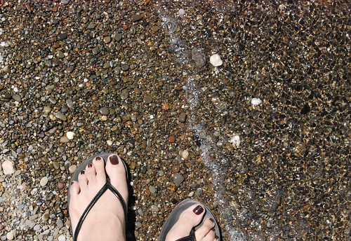 My feet at the lake