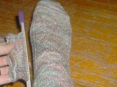 New England socks - progress