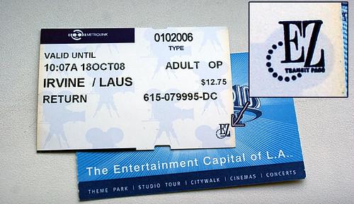 MetroLink ticket w/ EZ Pass