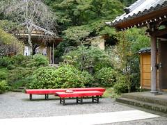 Tea tables at Kaiki-Byo, Engaku-ji