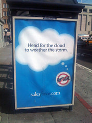 Salesforce bus shelter ad