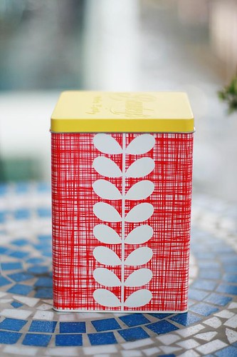 Orla Kiely tea caddy