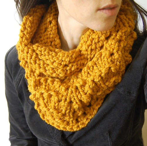 amber orange cowl for my etsy shop