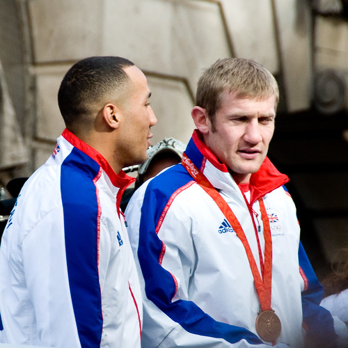 James DeGale (left, with Tony Jeffries)
