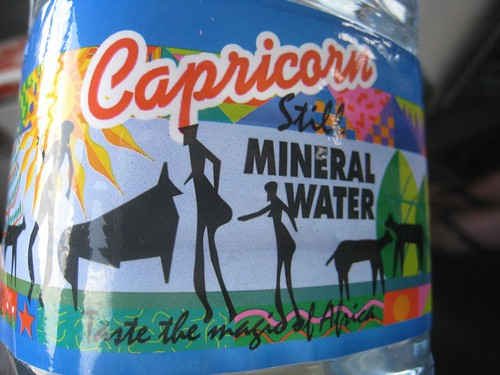 colorful Capricorn mineral water