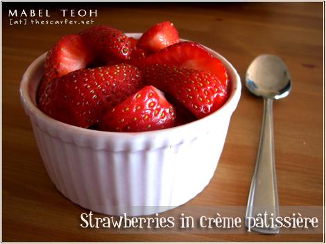 Strawberries in crème pâtissière