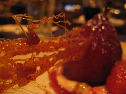 Carmelized Sugar in Brandied Pear