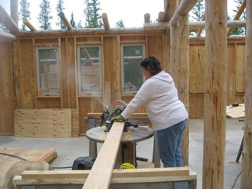 Roofing Production at the Chop Saw
