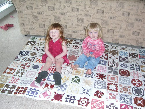 Girls on Quilt May 2006
