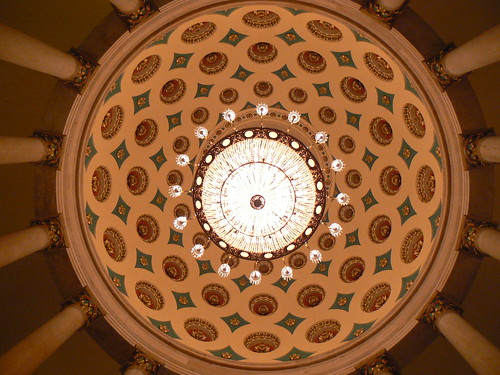 Detail of a dome in the Capitol Building