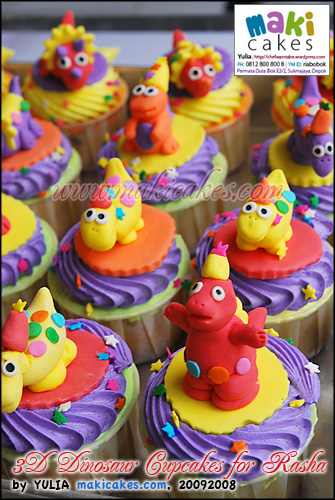 3D Dinosaur Cupcakes for Rasha_ - Maki Cakes